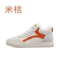 棉鞋女冬季保暖加绒韩版新款高帮帆布棉靴学生百搭小白鞋
