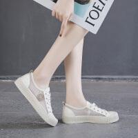 帆布鞋女平底小白鞋网布透气夏款鞋子女2019潮鞋春款学生百搭板鞋夏季百搭鞋