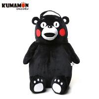 日本正版酷MA萌(KUMAMON)熊本熊双肩包毛绒背包背包男女士卡通儿童书包 GZ1203
