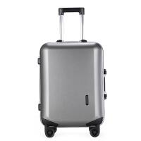 铝框商务万向轮拉杆箱行李箱男登机箱女20寸学生箱24寸学生箱 灰色 铝框