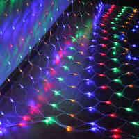 耀庆LED网灯节日彩灯闪灯串灯渔网灯防水灯串装饰窗帘灯网状彩灯