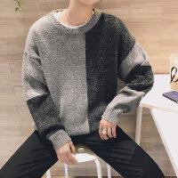冬季毛衣男士韩版潮流个性圆领线衣修身型长袖毛衫宽松针织衫