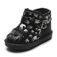 冬季儿童雪地靴女童靴子 宝宝棉鞋女童短靴 加绒毛靴保暖棉靴毛口 25 内长13.5cm