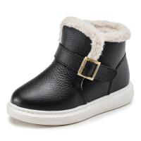 №【2019新款】冬天小朋友穿的�和�雪地靴新款男童鞋加�q女童棉靴子短靴加厚