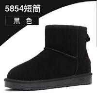 2019新款低帮加厚加绒保暖棉鞋短筒雪地靴子女学生韩版冬鞋面包鞋