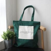 帆布单肩包女大包日韩复古小清新森系文艺学生大容量手提布艺包袋