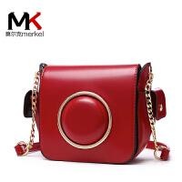 莫尔克(MERKEL)杨幂同款女相机包韩版简约百搭潮新款明星同款小方链条盒子单肩包