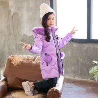 女童棉衣冬季中长款外套儿童小女孩冬装
