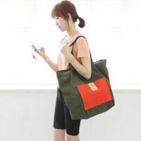 出差旅行袋防水收纳包大容量单肩购物袋折叠旅行包可套拉杆行李箱