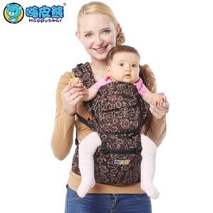 四季通用纯棉透气婴儿背带腰凳宝宝腰凳儿童背带双肩背带 8011M