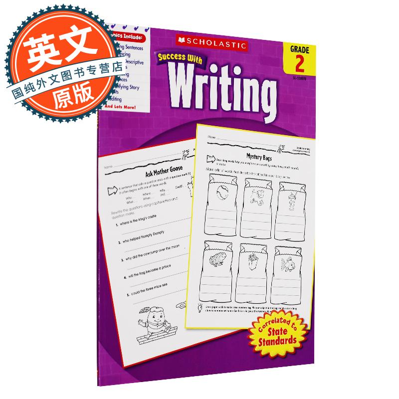 Scholastic Success with Writing, Grade 2 学乐成功系列:二年级写作【英文原版】 原版进口 放心订购