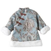 女童旗袍 中国风唐装儿童新年裙子冬装