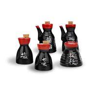 MinoYaki 美浓烧 日本进口天目釉陶瓷调味罐五件套