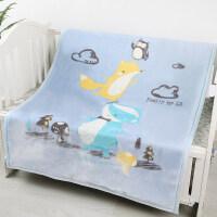 四季款婴儿毛毯礼盒新生儿盖毯宝宝云毯幼儿园卡通小毯子