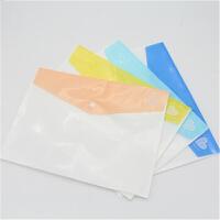 富得快A4纽扣袋加厚定制文件袋塑料档案袋 彩色A4不透明文件袋F7599/7600 颜色*