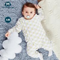 迷你巴拉巴拉婴儿男女宝宝保暖连体衣纯棉冬新生儿加厚哈衣爬爬服