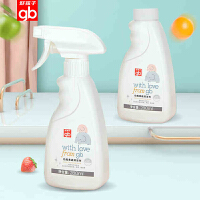 gb好孩子婴儿奶瓶清洁剂喷雾型宝宝奶瓶清洁液餐具清洗剂280ml*2