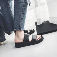 允鹿 visvim 2019夏季新款�鲂�男士青年拖鞋��性�n版�W生潮流沙�┬�