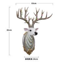 墙上挂饰单件鹿鹿头壁挂饰壁饰北欧创意客厅墙面墙上装饰品玄关墙壁立体墙饰挂件