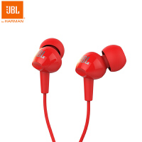 JBL C100SI 正品入耳式通用耳塞式小米华为手机运动耳机 红色