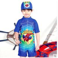儿童游泳衣男童短袖连体泳装防韩版汽车紫外线沙滩服可礼品卡支付