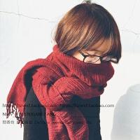 韩版秋冬天仿羊绒流苏褶皱围巾女大披肩两用百搭加厚保暖学生围脖