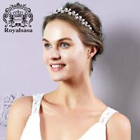 皇家莎莎新娘饰品仿珍珠仿水晶公主皇冠发饰发箍婚礼结婚首饰品