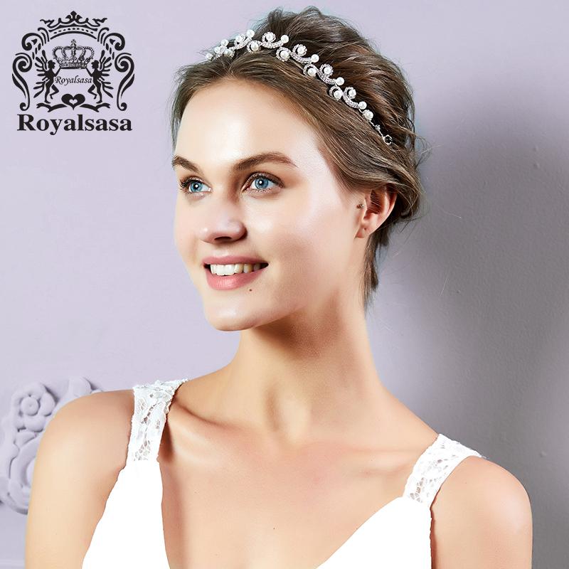 皇家莎莎新娘饰品仿珍珠仿水晶公主皇冠发饰发箍婚礼结婚首饰品 秋冬上新