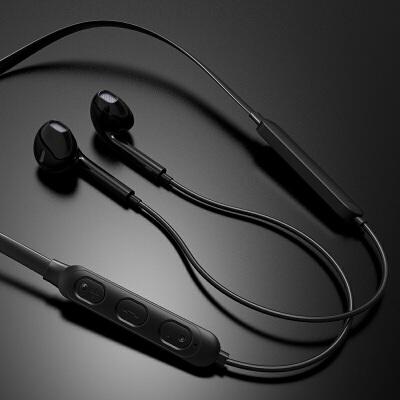 蓝牙耳机双耳挂脖式适用三星s8无线s9 s10双耳a8s运动s5 s6 s7 e note4 5 c  标配