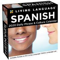 英文原版 每日西班牙语2020年日历 每天一页学语言 Living Language自学教材 短语&文化 Spanis