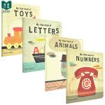 我【预 售】的第一本书:数字+字母+动物+玩具MyFirstBook0-3岁儿童英语启蒙 Angels Navarro