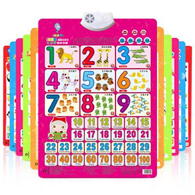 【悦乐朵玩具】儿童早教启蒙凹凸有声挂图认知卡片婴幼儿宝宝发声识字挂图看图认字母识字卡片语音汉字拼音全套1-3-6岁礼物玩具六一儿童节礼物早教益智玩具总动员