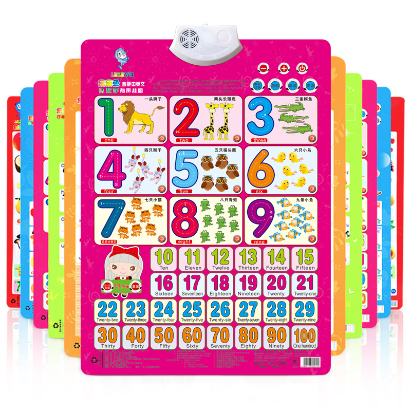 【2件5折】儿童早教启蒙凹凸有声挂图认知卡片婴幼儿宝宝发声识字挂图看图认字母识字卡片语音汉字拼音全套1-3-6岁礼物玩具2件5折