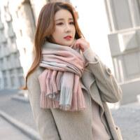 围巾女冬季韩版百搭格子潮流长款学生英伦冬天年轻人2018小清新