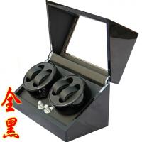 德国品质马达摇表器机械手表上链盒上弦晃表转表器摇摆手表盒 4+0全黑豪华升级版