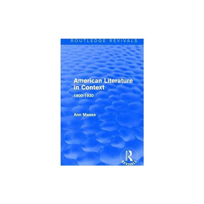 【预订】American Literature in Context 9781138691230 美国库房发货,通常付款后3-5周到货!