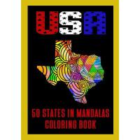 【预订】USA 50 States in Mandalas Coloring Book: Color Me In Am