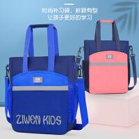 小学生书包男女童补习袋儿童补习包手提包拎包公主斜挎包帆布书袋