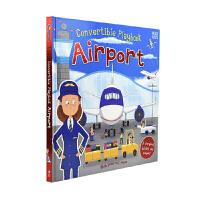 Convertible Playbook Airport 幼儿交通启蒙英语早教书 机场附模型 英文原版图书