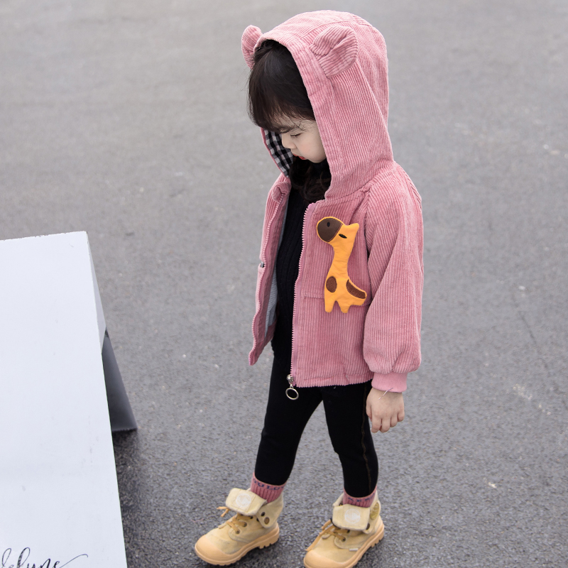 女宝宝外套秋冬儿童装女童洋气公主夹克外衣