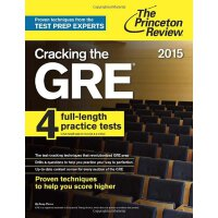 Cracking the GRE with 4 Practice Tests,2015 Edition 普林斯顿GRE