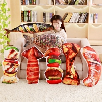 创意仿真零食抱枕抖音玩具同款食物靠垫玩偶毛绒玩具搞怪礼物女生