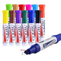 12支装 10MM唛克笔套装 pop海报广告画笔 宝克彩色马克笔 美工海报笔套装广告笔 彩色画画笔 海报笔