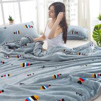 珊瑚绒毯子午睡沙发毛巾小被子学生宿舍冬季加厚垫保暖床单人毛毯