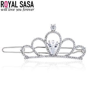 皇家莎莎刘海夹发卡皇冠时尚爱心甜美淑女清新发夹发饰头饰复古风边夹女