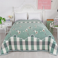 进口品质毛毯被子加厚冬季双层珊瑚绒毯子双人1.8m保暖床单法兰绒铺床炕单W【】