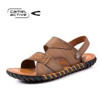 骆驼动感(camel active)男鞋手工缝制日常休闲凉拖鞋沙滩鞋男