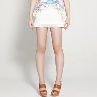 【1件3折到手价:13.5】美特斯邦威美特斯邦威女装拼接雪纺半裙258044