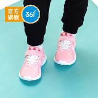 【1件3折券后预估价:62.1】361度童鞋女童跑鞋小童2021年冬季便捷魔术贴休闲运动鞋