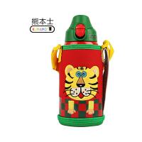 【当当自营】goodland熊本士儿童保温杯 620ml三盖水壶 升级版316-小老虎